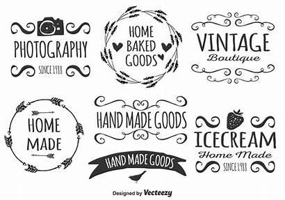 Drawn Hand Vector Label