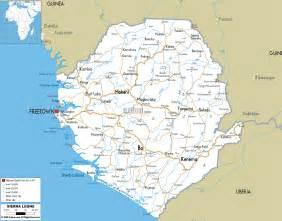 Sierra Leone Map - Road Map of Sierra Leone Sierra Leone