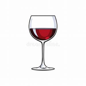 Red Wine Glass, Sketch Vector Illustration Isolated On ...