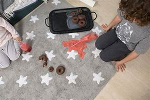 Tapis Pour Bébé : tapis pour b b lavable en machine stars white lorena canals ~ Melissatoandfro.com Idées de Décoration