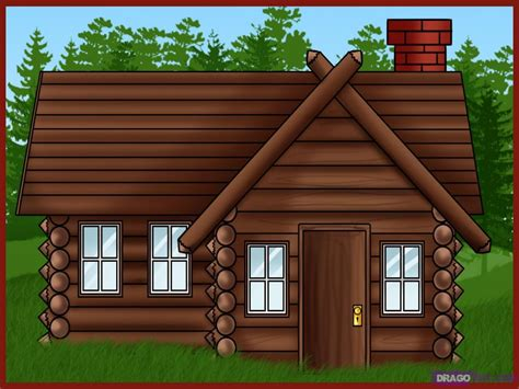 Cabin Clipart Log Cabin House Clip Log Home Log