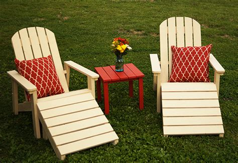 diy   piece outdoor adirondack furniture set