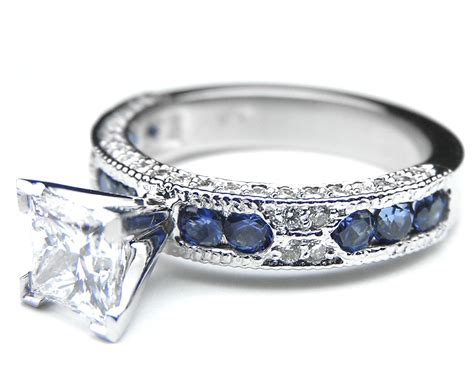 engagement ring princess cut diamond vintage engagement