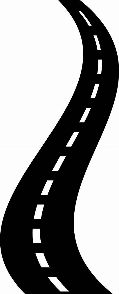 Road Clipart Curved Roads Curvy Silhouette Clip