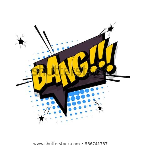 Lettering Bang Knock Comic Text Sound Stock Vector