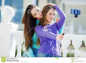 Two Girls Make Self In The City Stock Photo - Image: 64926566