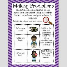 Anchor Chart To Teach Making Predictions By First In Line Tpt