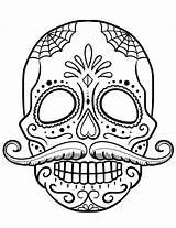Skull Sugar Coloring Pages Printable sketch template