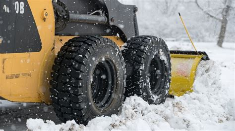 winter skid steer tires trac star  youtube