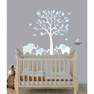 baby nursery decor elephants below beautiful tree baby With baby wall decals