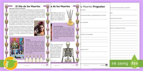 * New * Comprensión Lectora Por Niveles El Día De Los Muertos