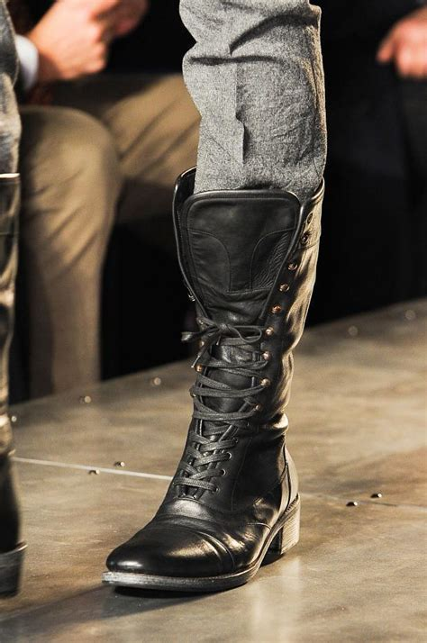 New Handmade Mens Military Style Superb Leather Boots Long