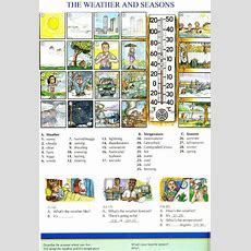 94  The Weather And Seasons  Picture Dictionary  English Study, Explanations, Free Exercises