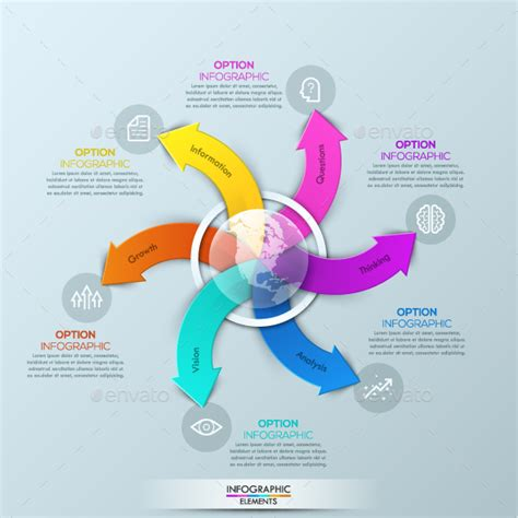 modern infographic global template  andrewkras