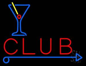 Club With Martini Glass Neon Sign Club Neon Sign Every