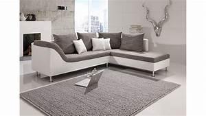 Kleines L Sofa : eckcouch grau wei ~ Michelbontemps.com Haus und Dekorationen