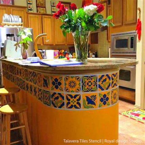 talavera tile kitchen mexican talavera tiles wall furniture stencils royal 2653