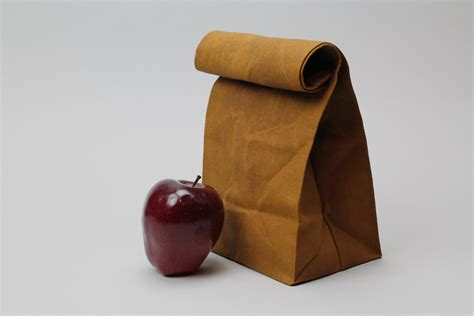 sack lunch the brown bag caramel brown waxed canvas lunch