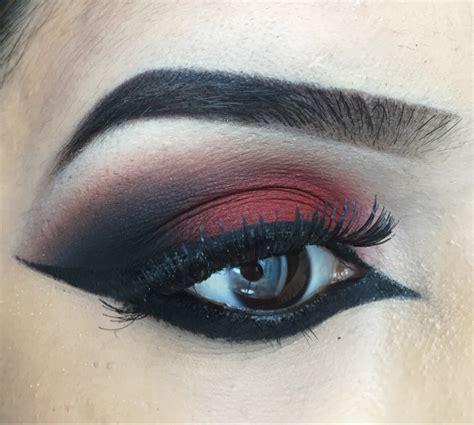 indian bridal makeup red smokey eye tutorial
