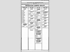 Primary 2016 Cabell County Sample Ballot Elections