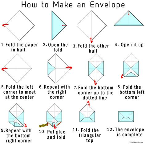 origami envelope  paper coolbkids