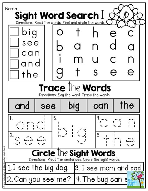 November No Prep Math And Literacy (kindergarten)  Sight Word Practice, Word Sentences And