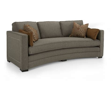 Curved Loveseat Sofa by Fabric Curved Sofa Decorium Furniture
