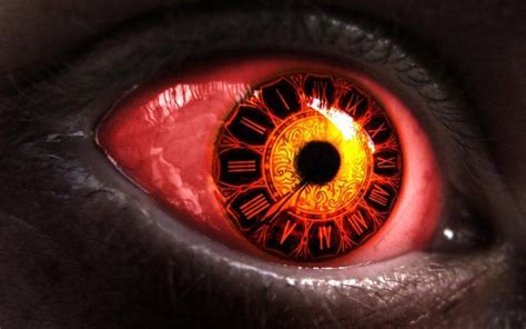 big red eye clock eye  image  high