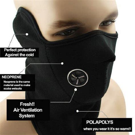 Neoprene Anti Pollution Bike Face Mask / Neck Warmer