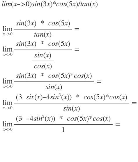 limes berechnen fuer limx  sinxcosx tanx