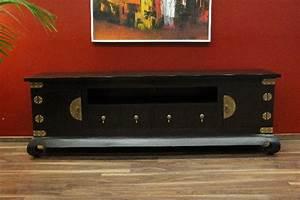 Tv Rack Holz : sideboard tv hifi schrank rack holz gold kolonial 192x64x44 ~ Whattoseeinmadrid.com Haus und Dekorationen