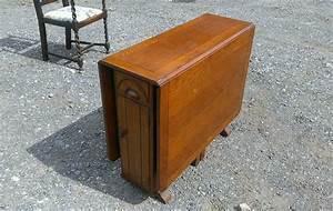 Beautiful, Vintage, 1940, U0026, 39, S, Drop, Leaf, Table, With, Storage