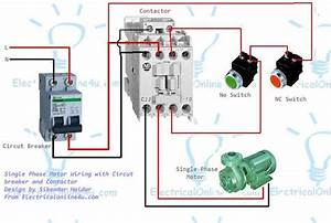 Single Phase Motor Wiring With Contactor