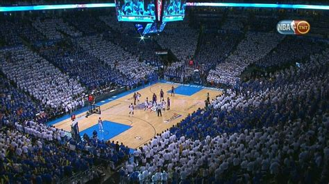 Oklahoma City Thunder Fans, Perfectly Color-Coordinated ...
