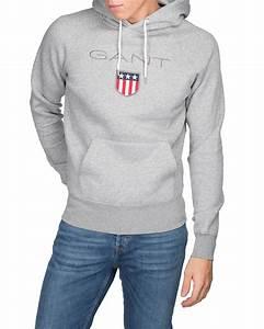Gant hoodie grey