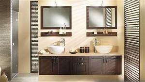 salle de bains en suspension With carrelage adhesif salle de bain avec led lumiere naturelle