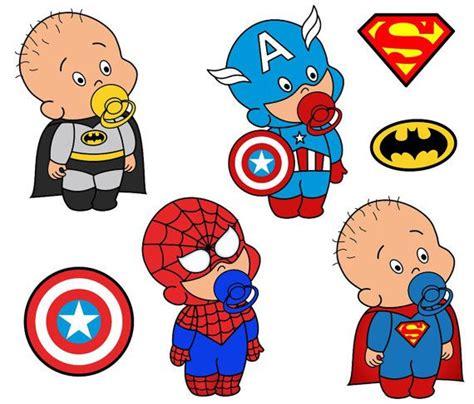 African American Baby Shower Favors by Superhero Digital Clip Art Batman Captain America By Yarkodesign 3 49 Scrapbook Clip Art