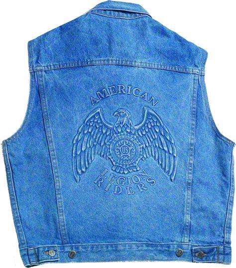 legion riders denim vest american legion flag emblem
