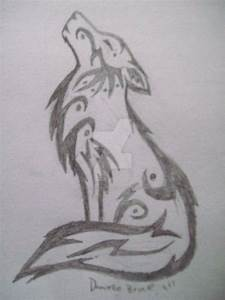Tribal Howling Wolf Sketch by DeviouslyDanielle on DeviantArt