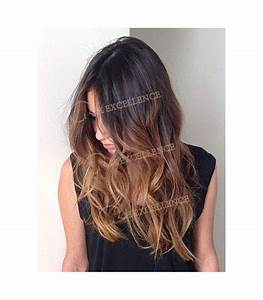 Ombré Hair Chatain : extension a clip lisse ombre tye die chatain extension ~ Nature-et-papiers.com Idées de Décoration