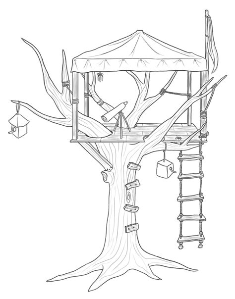 Tree House #16 (buildings And Architecture) Printable