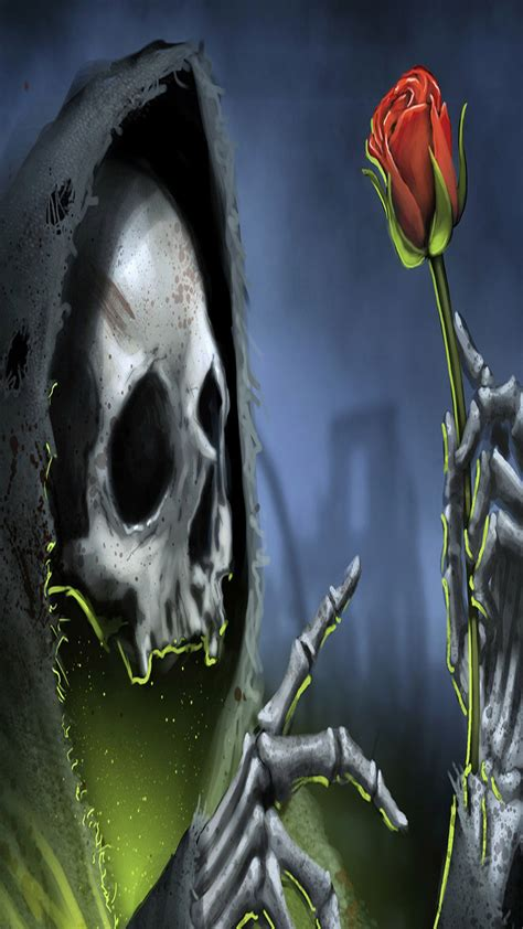 tete de mort  wallpaper  iphone