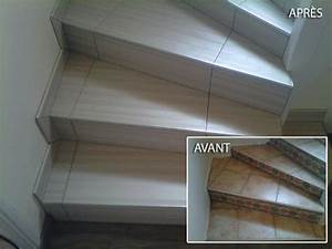 Avec Quoi Recouvrir Un Escalier En Carrelage : recouvrir un escalier en carrelage awesome beautiful recouvrir escalier en bois re habiller un ~ Melissatoandfro.com Idées de Décoration
