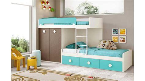 bureau superposé lits superposés enfants et pratique glicerio