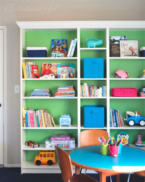 Painted Billy Bookcase by Playroom Design With Centsational Simplified Bee