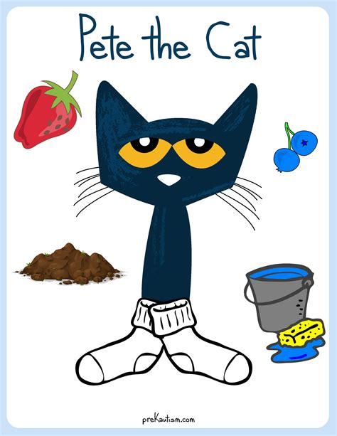 pete  cat white shoes color activity prekautismcom