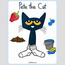 Pete The Cat  White Shoes Color Activity Prekautismcom