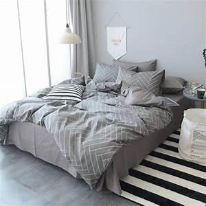 Modern, Striped, Bedding, Set