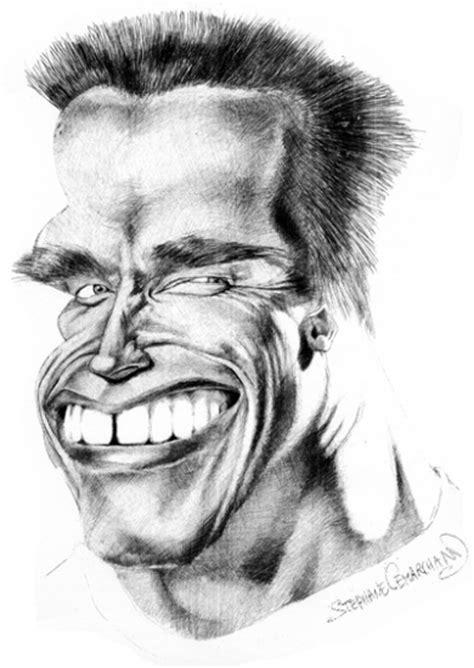 portrait  arnold schwarzenegger  caricature