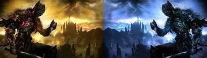 Dual Monitor Dark Souls Iii Rated Screen